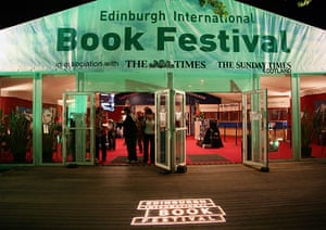 Literary Edinburgh: The entrance to the Edinburgh International Book Festival