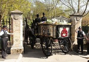 Malcolm McLaren's funeral: Malcolm McLaren funeral