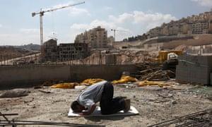 A Palestinian worker in East Jerusalem