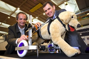 Exhibition of Inventions: Roland and Raymond de la Celle invented orthopaedic equipment for dogs