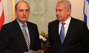 George Mitchell meets Binyamin Netanyahu