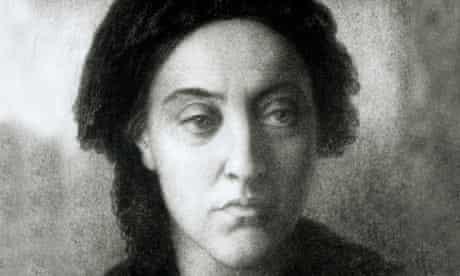 Christina Rossetti, chalk drawing by Dante Gabriel Rossetti