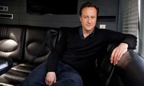 David Cameron on his battlebus
