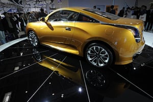 Beijing car show: A Chinese-made Geely GLEagle GS sports car on display