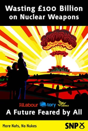 Election posters: The SNP's viral poster on wasting billions on nuclear weapons