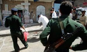 Ssite of suicide bomb blast in Sanaa