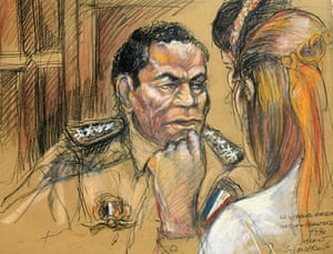 Manuel Noriega: 1992: A court drawing of General Manuel Noriega during his trial in Miami