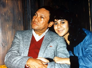 Manuel Noriega: Manuel Noriega and daughter