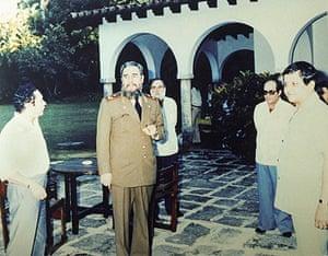 Manuel Noriega: 1984: Noriega, Fidel Castro and Del Cid, an aide to Noriega