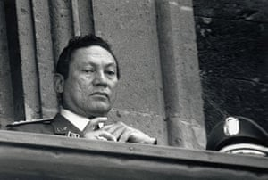 Manuel Noriega: 16 September 1987: General Noriega watches Mexico's Independence Day parade