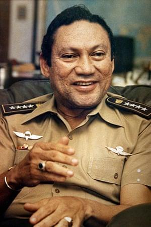 Manuel Noriega: 8 November 1989: General Manuel Noriega talks to reporters in Panama City
