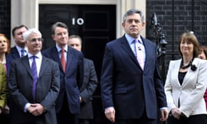 Gordon Brown visits the Queen to seek the dissolution of Parliament.