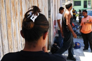 migrants in mexico: Young woman at a shelter for migrants in mexico
