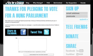 Vote for a change screengrab