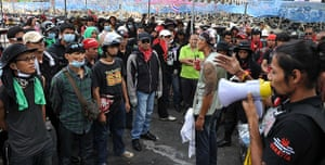 Thailand protests: Red Shirts receive orders from leaders