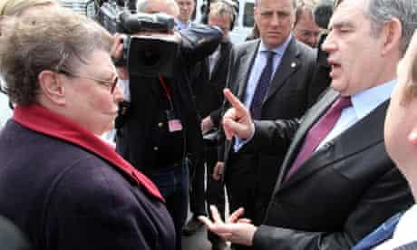Gordon Brown and Gillian Duffy