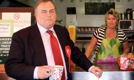 John Prescott campaigns In London 22/04/10