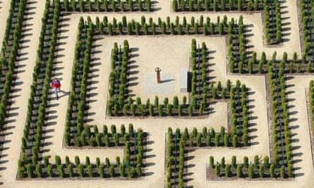 a labyrinth at the Erlebnispark Teichland theme park