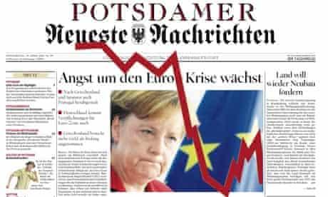 Front page of German newspaper Potsdamer Neueste Nachrichten