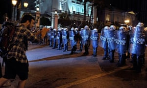 Protest outside Greek parliament