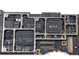 iPad disassembled: iPad logic board