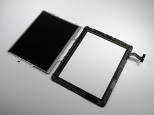 iPad taken apart: The display assembly