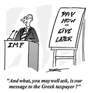 Greece cartoons: Cartoon on the Greek economic crisis