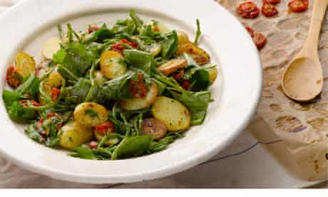 Potato sorrel samphire salad
