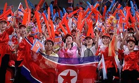 North Korean football fans