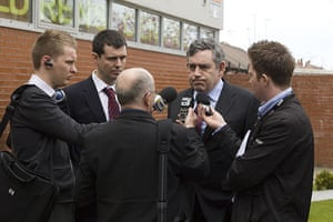 Martin Argles campaign: Gordon Brown gives interviews to local journalists in Rochdale