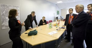 Martin Argles campaign: Gordon Brown and Jack Straw discuss strategy at Honeywell Community centre