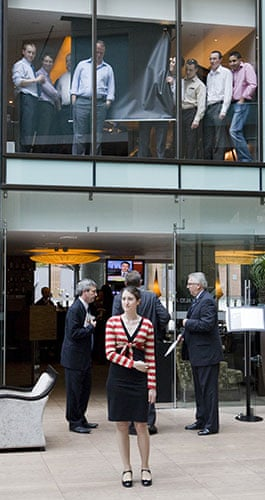 Martin Argles campaign: Guests and staff at the Radisson hotel await the return of Gordon Brown