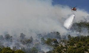 Fire-fighting in Greece