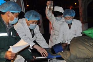Miners rescued in China: A survivor of the Wangjialing Coal Mine accident in China