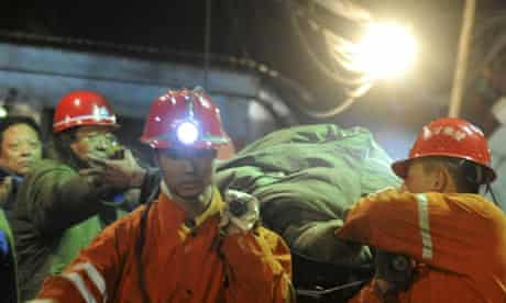 Miners rescued in China