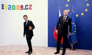 Mirek Topolanek with Nicolas Sarkozy