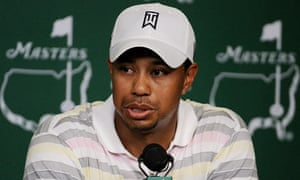 Tiger Woods speaks to the press for the first time since allegations regarding his private life