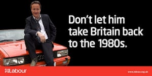 Election posters: Labour Party's poster with David Cameron as TV detective Gene Hunt
