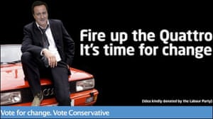 Election posters: Fire up the Quattro, it's time for a change, Conservative poster