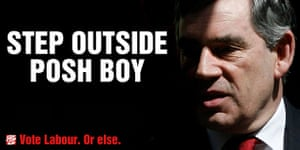 Election posters: Step outside Posh Boy, The Guardian's April Fools day poster spoof