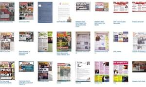Selection of general election leaflets