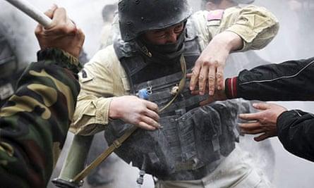 Protesters Bishkek