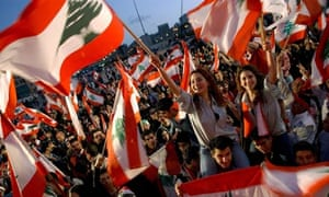 Hundreds of Lebanese opposition protesters rally