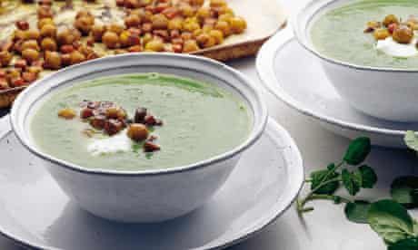 Watercress and chickpea soup