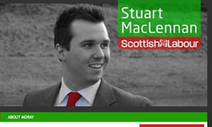 A screen grab from Stuart MacLennan's election website.