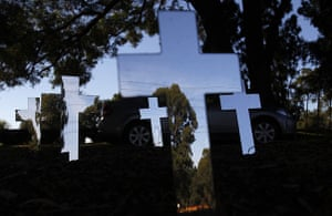 24 hours in pictures: Sydney, Australia: An art installation at Rookwood Cemetery