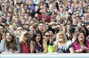 Grand National: Ladies Day at the Grand National, Aintree, Liverpool