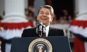Ronald Reagan, pictured in 1984