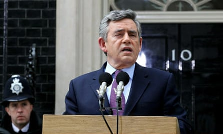 Gordon Brown announces that he will step down as Labour leader