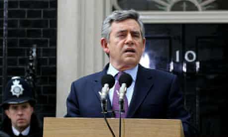 Gordon Brown announces that he will step down as Labour leader